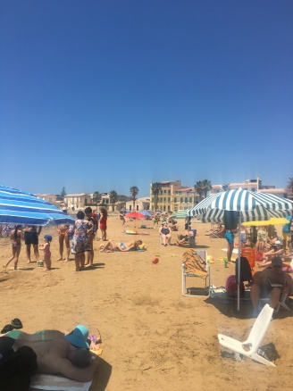 The beach in Donnalucata!