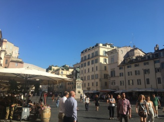 Campo de Fiori - the Italian equivalent to Market Square.
