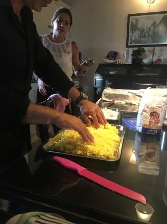 Making arancini!