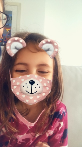 She wanted to take Snapchat pictures this morning!