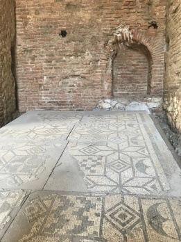 A mosaic found inside the amphitheater!