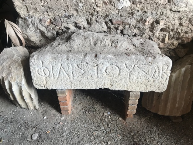 A slab of stone from inside with Greek writing!